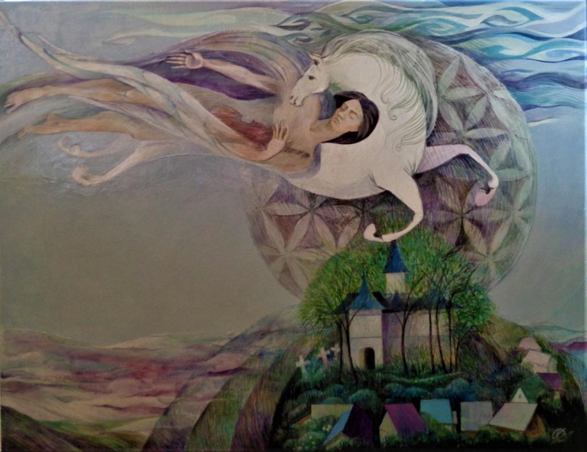 """Camelia Rusu SADOVEI, """"Impresii din copilărie"""", tehnica – pictură"""