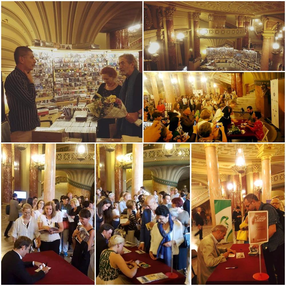 Colaj stand Humanitas autografe|Top vanzari|CD uri Enescu