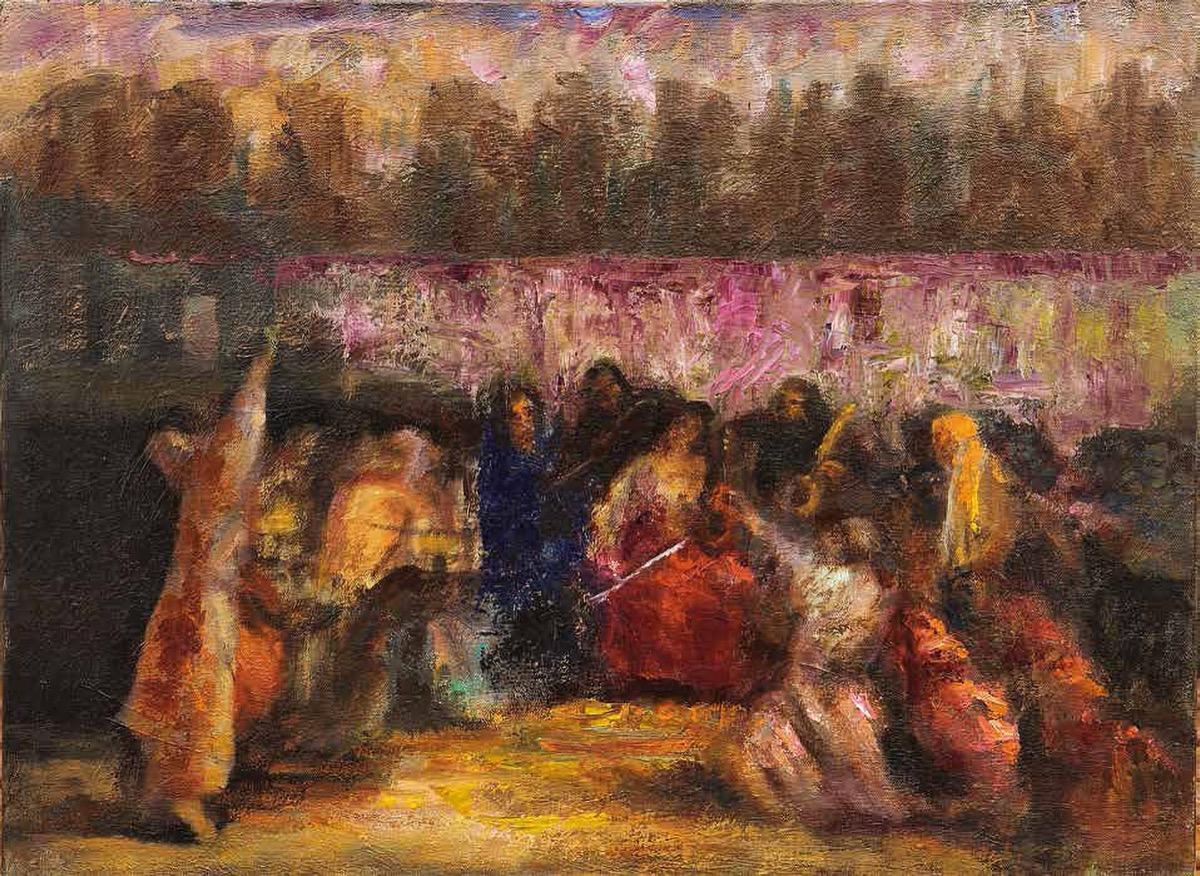 """Florentina VOICHI , """"Șapte cântece"""", tehnica – pictură"""
