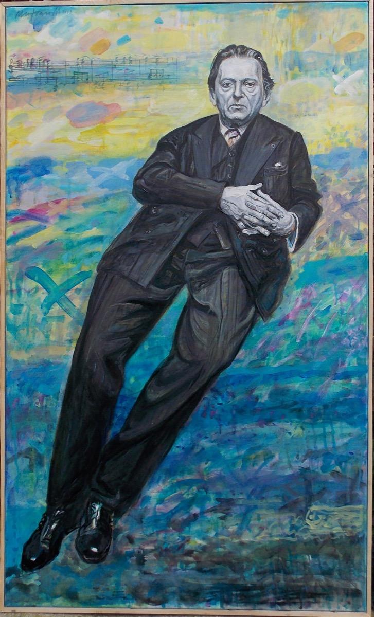 "Marcel Ghe. MUNTEAN, ""Vox Maris"", tehnica – pictură"