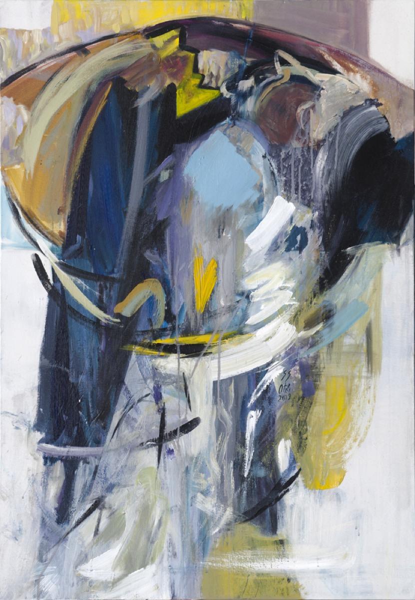 """Otilia GRUNEANTU SCRIUBA, """"Impresii din copilărie"""", tehnica – pictură"""